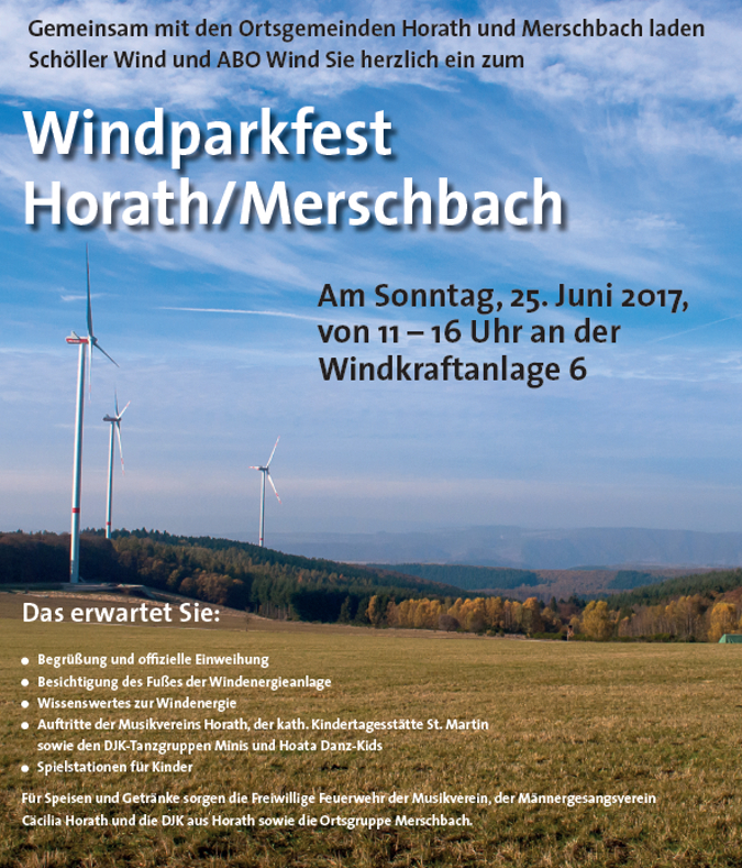 Windparkfest Horath/Merschbach
