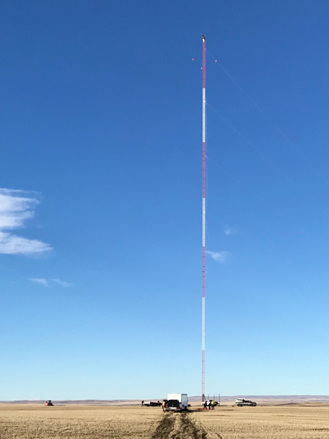 Buffalo Plains Wind Farm's first Meteorological Mast