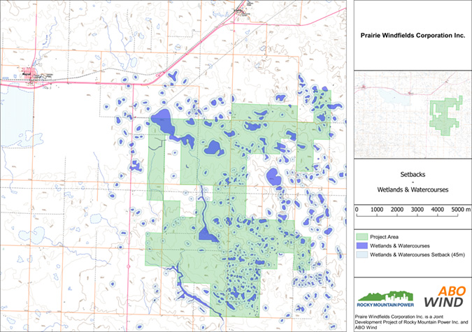 PWC map setbacks wetlands & watercourses