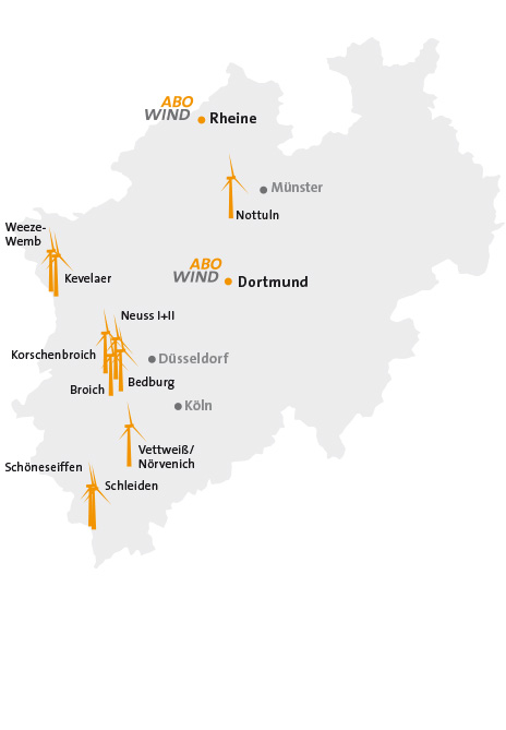 ABO Wind in Nordrhein-Westfalen