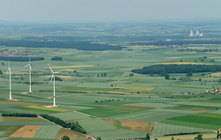 Windpark in Bayern